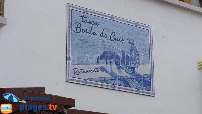 Enseigne d'un restaurant à Ferragudo
