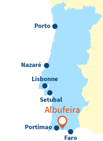 Localisation d'Albufeira au Portugal