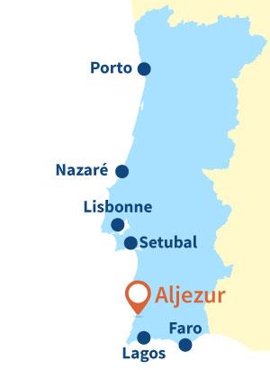 Localisation d'Aljezur au Portugal