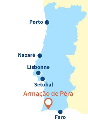 Où se trouve Armação de Pêra au Portugal