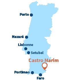 Localisation de Castro Marim au Portugal