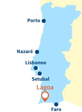 Localisation de Lagoa au Portugal