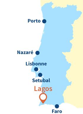 Carte de Lagos au Portugal