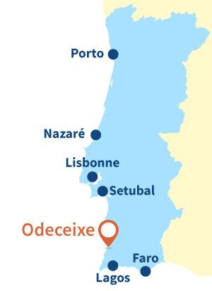 Localisation d'Odeceixe au Portugal