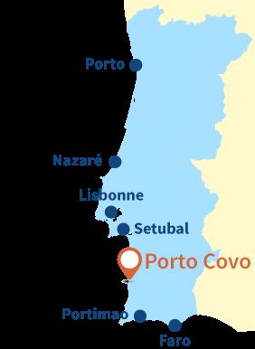 Localisation de Porto Covo au Portugal