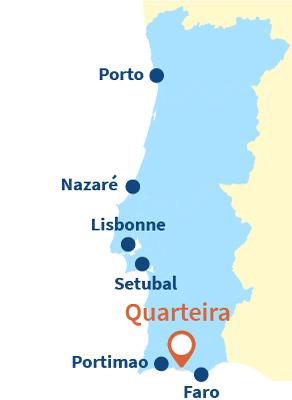 Localisation de Quarteira au Portugal