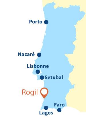 Localisation de Rogil au Portugal