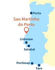 Localisation de Sao Martinho do Porto au Portugal