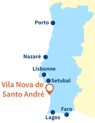 Localisation de Vila Nova de Santo André au Portugal