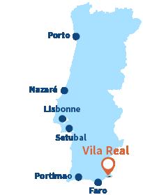 Localisation de Vila Real de Santo Antonio au Portugal