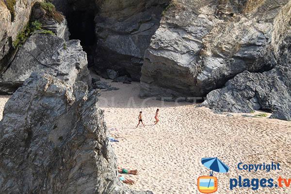 Crique de sable de Banho à Porto Covo