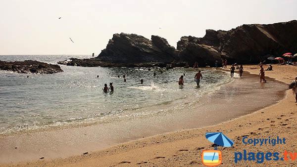 Baignade sur la plage de Buizinhos au Portugal - Porto-Covo