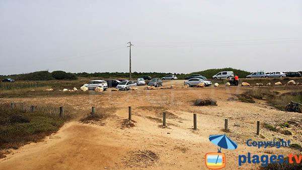 Parking de la crique de Salto à Porto Covo