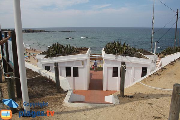 Sanitaires de la plage d'Almograve Norte - Portugal