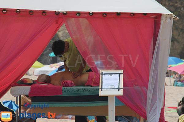 Massage sur la plage d'Almograve Norte