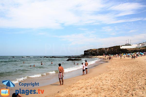 Baignade sur la plage d'Almograve Norte au Portugal