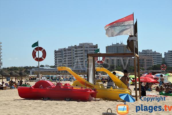 Alvor depuis la plage - Portugal avec ses hôtels