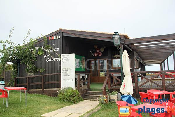 Restaurant sur la plage d'Armoreira do Mar - Aljezur