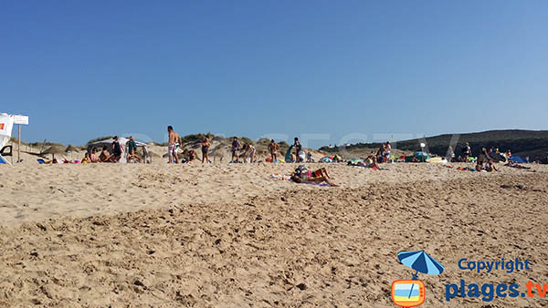 Dunes de la plage d'Armoreira do Mar - Aljezur