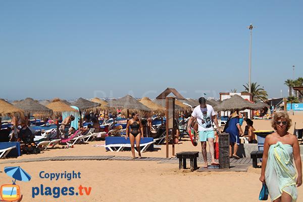 Photo de la plage Azul à Quarteira au Portugal