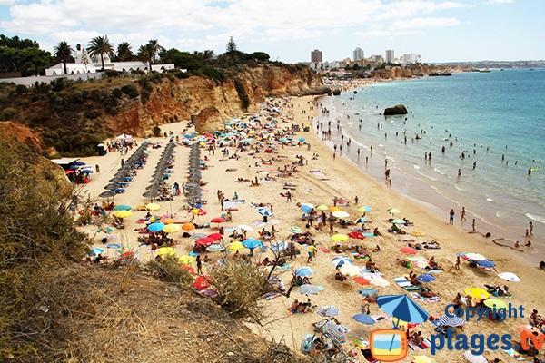 Photo de la plage du Barranco das Canas à Portimao - Portugal