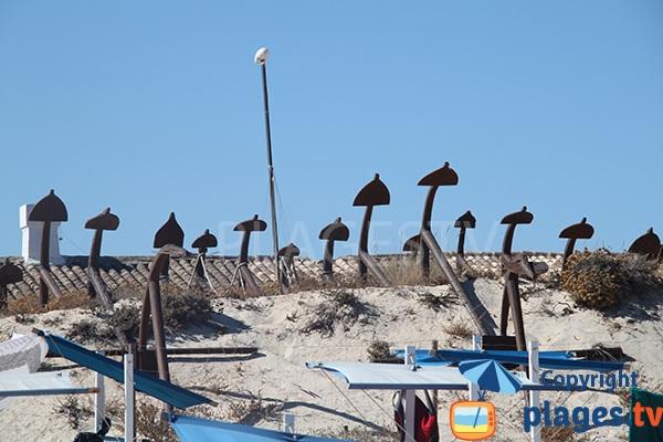 Ancres de l'ancienne pêcherie de Barril - Portugal