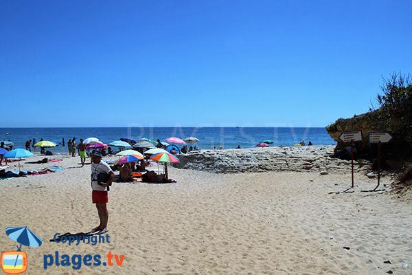 Fréquentation de la plage de Barranco das Belharucas à Olhos d'Agua