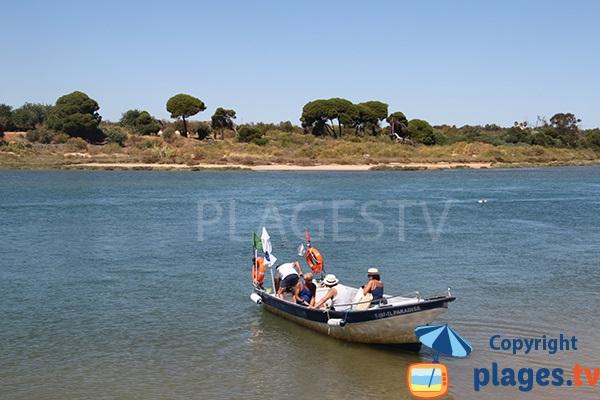 Navette pour la plage de Cabanas - Portugal