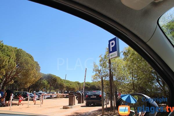Parking de la plage de Cabeco - Castro Marim