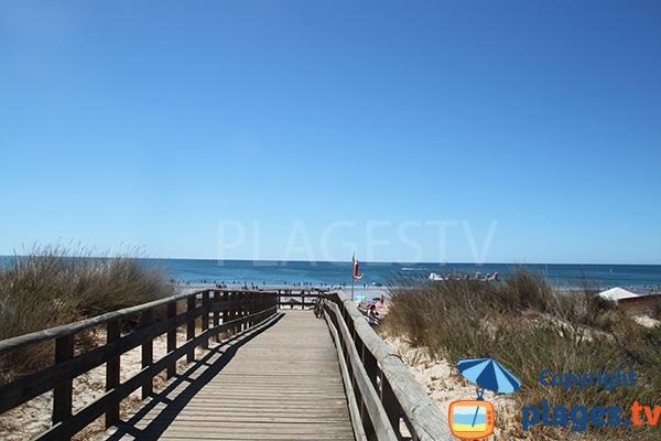 Accès à la plage de Cabeco à Castro Marim - Portugal