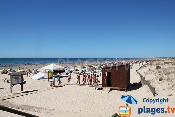 Grande plage à Castro Marim