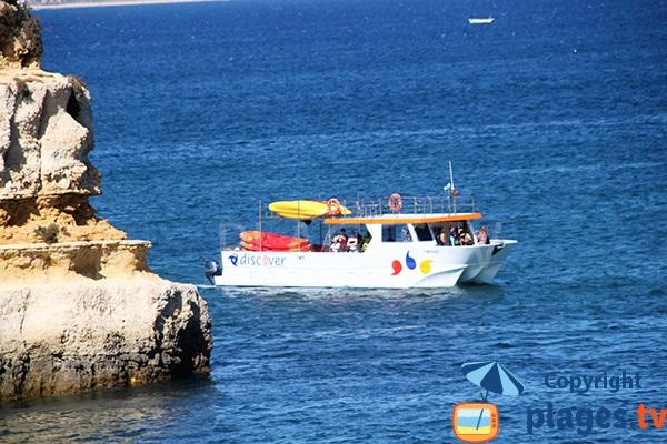 Vedette depuis le port de Lagos à la plage de Camilo - Portugal