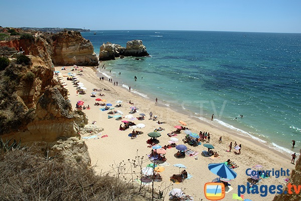 Photo de la plage de Careanos de Portimao au Portugal