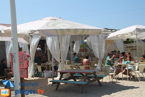 Restaurant sur la plage de Carvalhal à San Teotonio - Portugal