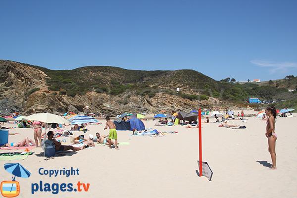 Montagnes autour de la plage de Carvalhal - Portugal