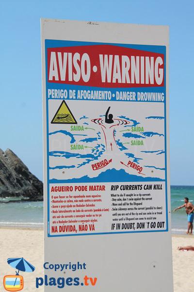Courant sur les plages portugaises