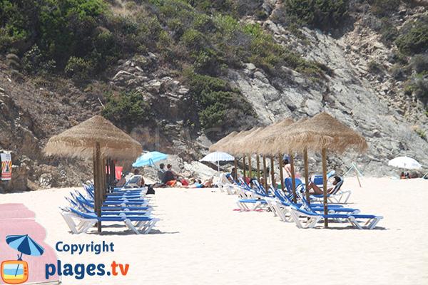 Location de matelas sur la plage de Carvalhal - Portugal