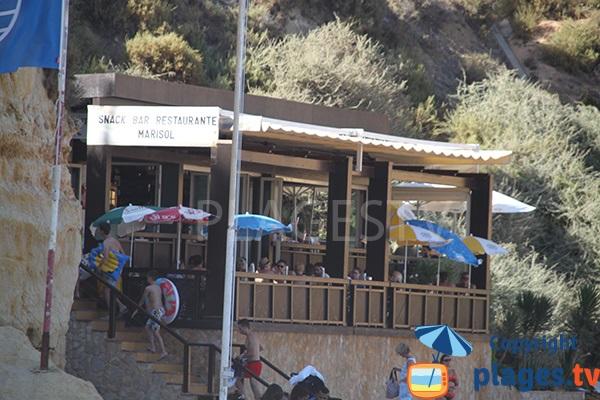 Restaurant de la plage de Dona Ana - Lagos