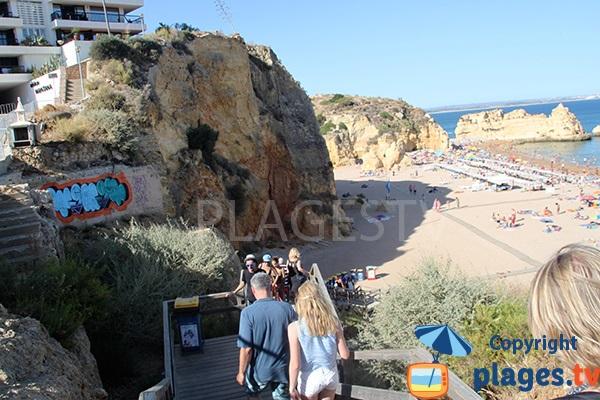 Accès à la plage de Dona Ana à Lagos - Algarve Portugal