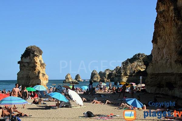 Centre de la plage de Dona Ana - Lagos