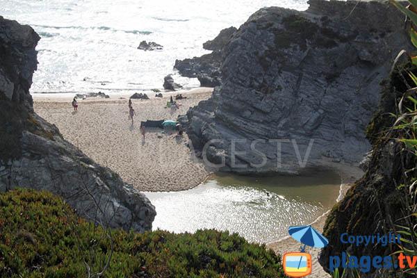 Mare sur la plage d'Espingardeiro à Porto Covo