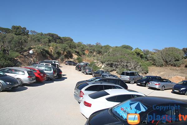 Parking de la plage do Evaristo à Albufeira