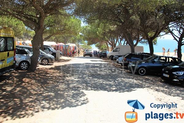 Parking de la plage de Falesia à Albufeira - Portugal