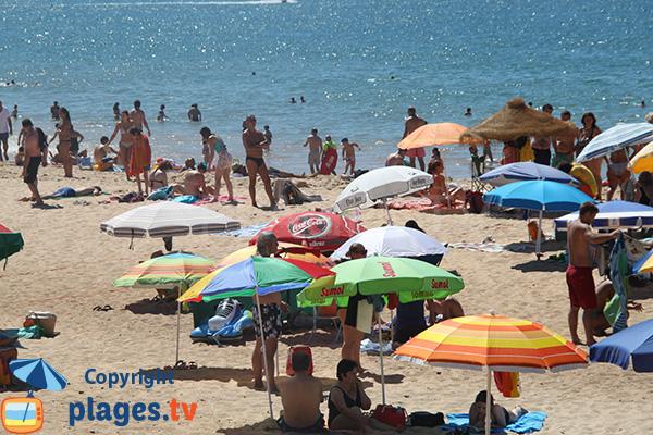 Zone publique de la plage de Forto Novo à Quarteira