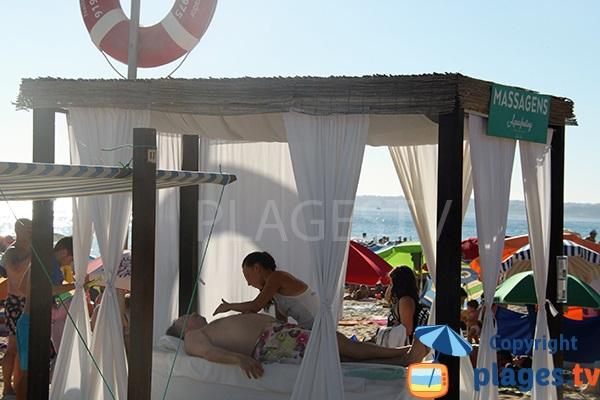 Massage sur la plage de Galé à Albufeira