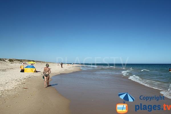 Photo de la plage de Homem Nu sur l'ile de Tavira - Portugal