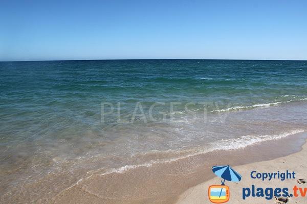 Baignade sur la plage de Homem Nu sur l'ile de Tavira - Sud du Portugal