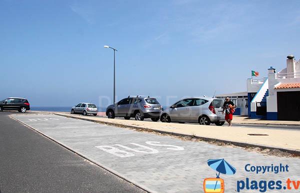 Parking de la plage de Lago - Sines - Portugal