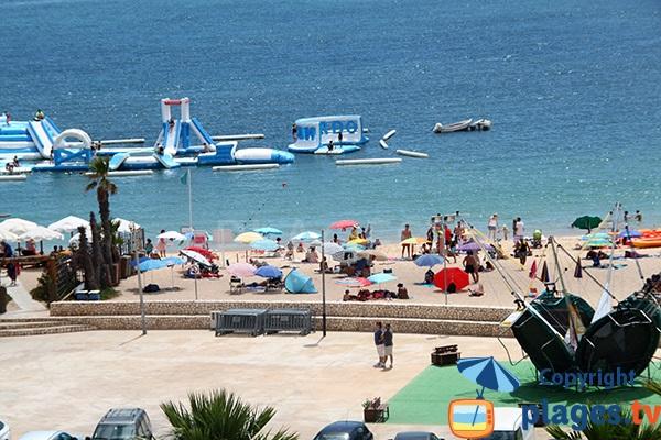 Photo de la plage de la Marina à Portimao au Portugal