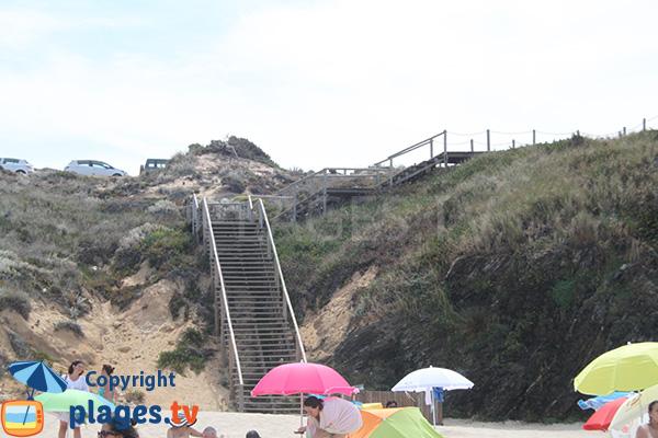 Escalier de la plage de Nossa Senhora à Almograve - Portugal